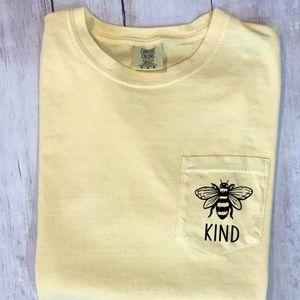Bee Kind Comfort Colors Pocket Tee